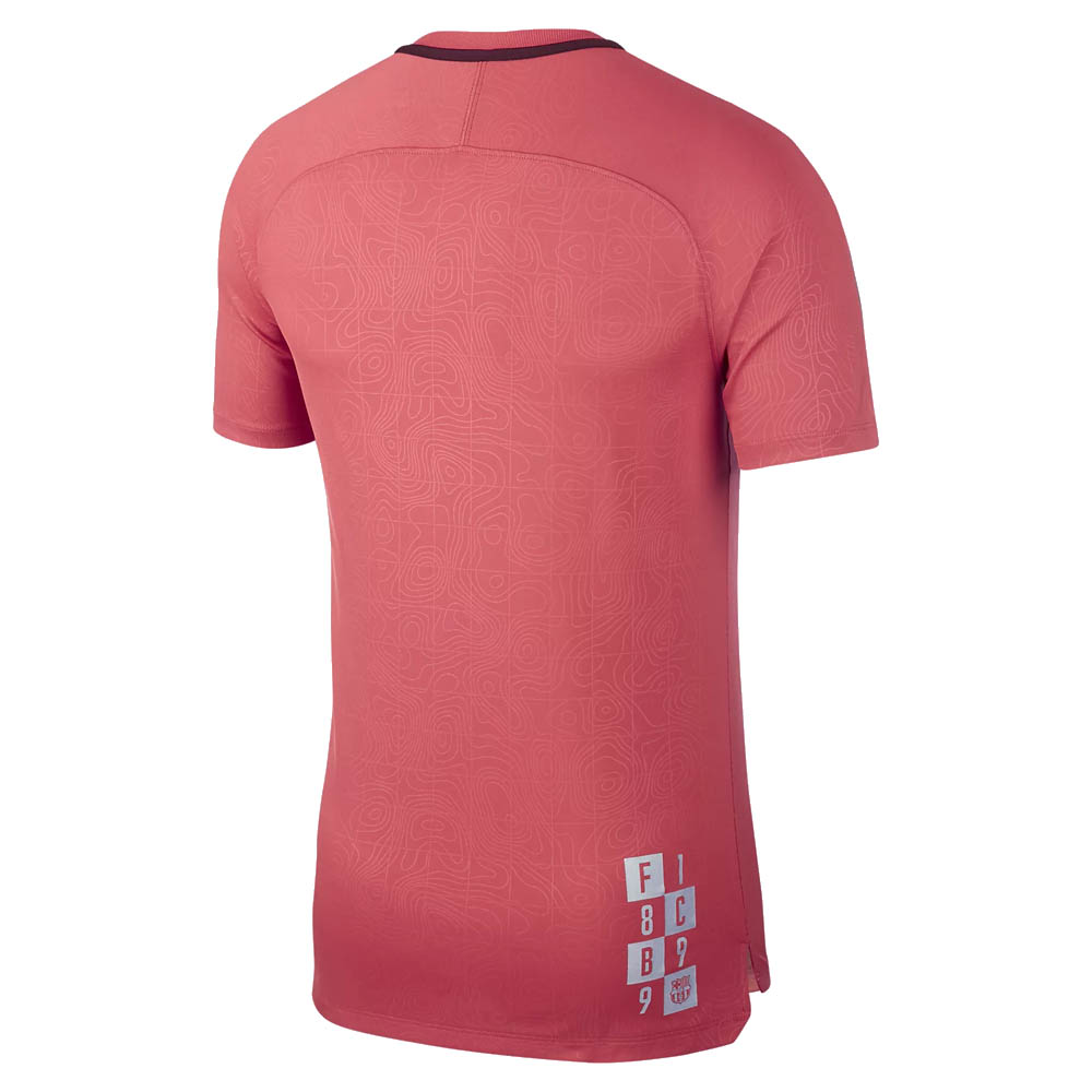 898dcd8fdbe 2018-2019 Barcelona Nike Pre-Match Dry Training Shirt (Tropical Pink)   921239-691  - Uksoccershop