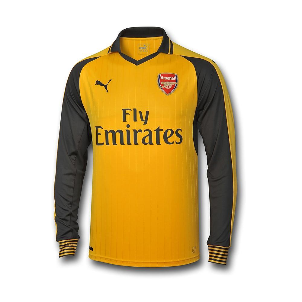 400590c18 2016-2017 Arsenal Puma Away Long Sleeve Shirt (Kids)