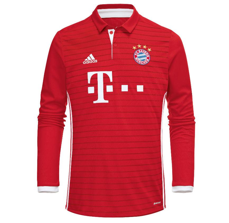 2016-2017 Bayern Munich Adidas Home Long Sleeve Shirt 4e717fc58