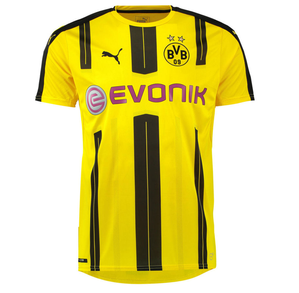 3b7971c49ca ... men long sleeve soccer jersey mkhitaryan22 2016 17 borussia dortmund  home shirt (pulisic 22)