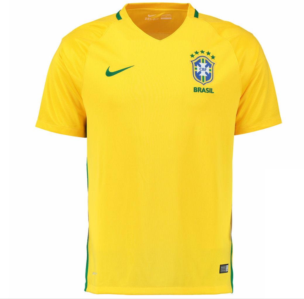 2016 2017 brazil home nike football shirt - Yellow Home 2016