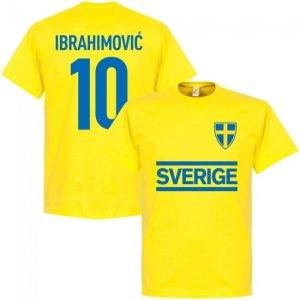 Sweden Ibrahimovic 10 Team T-Shirt - Yellow