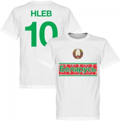 Belarus Team Hleb No.10 T-shirt - White