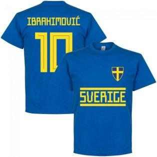 Sweden Ibrahimovic 10 Team T-Shirt - Royal