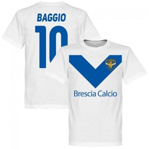 Brescia Roberto Baggio Team T-Shirt - White