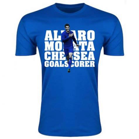 Alvaro Morata Chelsea Player T-Shirt (Blue) - Kids