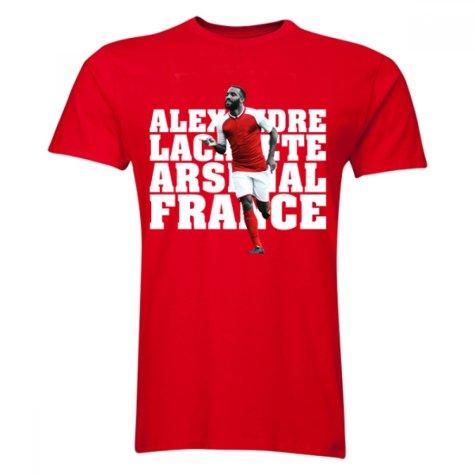 Alexandre Lacazette Arsenal Player T-Shirt (Red) - Kids