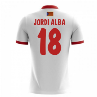 2017-18 Catalunya Airo Away Shirt (Jordi Alba 18) - Kids