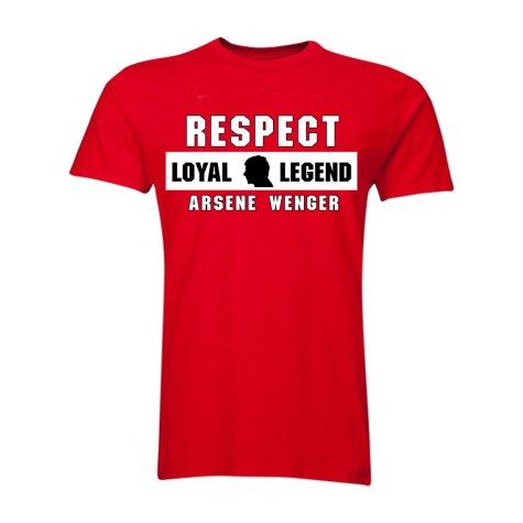 Arsene Wenger Respect T-Shirt (Red) - Kids