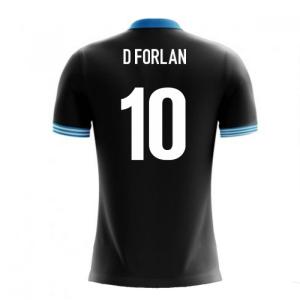 2020-2021 Uruguay Airo Concept Away Shirt (D Forlan 10) - Kids