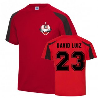 David Luiz Arsenal Sports Training Jersey (Red)
