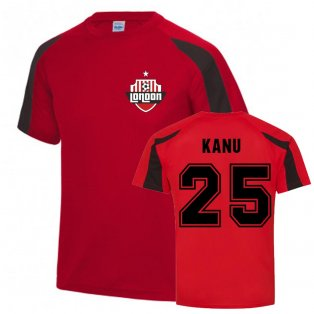 Nwankwo Kanu Arsenal Sports Training Jersey (Red)