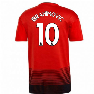 2018-2019 Man Utd Adidas Home Football Shirt (Ibrahimovic 10) - Kids