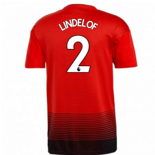 2018-2019 Man Utd Adidas Home Football Shirt (Lindelof 2) - Kids