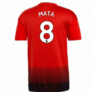 2018-2019 Man Utd Adidas Home Football Shirt (Mata 8) - Kids