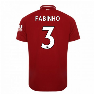2018-2019 Liverpool Home Football Shirt (Fabinho 3) - Kids