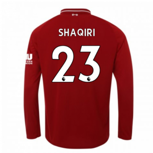 2018-2019 Liverpool Home Long Sleeve Shirt (Shaqiri 23) - Kids