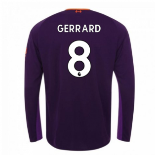 2018-2019 Liverpool Away Long Sleeve Shirt (Gerrard 8) - Kids