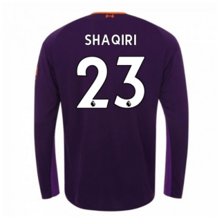 2018-2019 Liverpool Away Long Sleeve Shirt (Shaqiri 23) - Kids