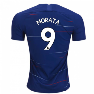 2018-2019 Chelsea Nike Vapor Home Match Shirt (Morata 9) - Kids