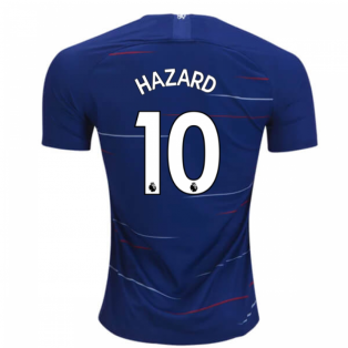 2018-2019 Chelsea Home Nike Football Shirt (Hazard 10) - Kids