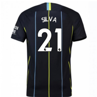 2018-2019 Man City Away Nike Football Shirt (Silva 21) - Kids