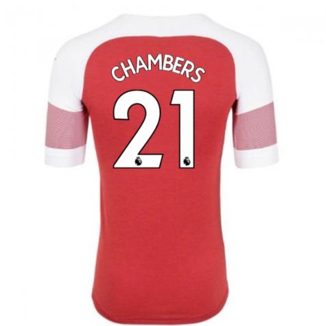 2018-2019 Arsenal Puma Home Football Shirt (Chambers 21) - Kids