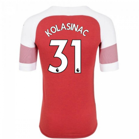 2018-2019 Arsenal Puma Home Football Shirt (Kolasinac 31) - Kids