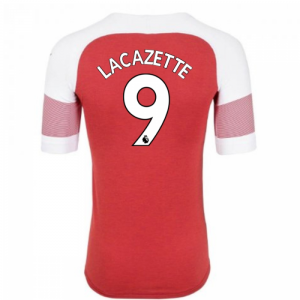 2018-2019 Arsenal Puma Home Football Shirt (Lacazette 9) - Kids