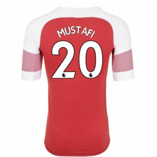 2018-2019 Arsenal Puma Home Football Shirt (Mustafi 20) - Kids