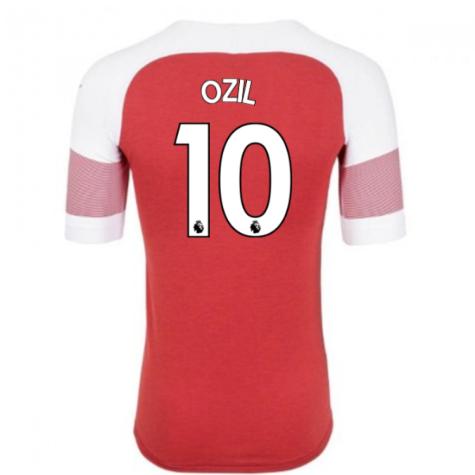2018-2019 Arsenal Puma Home Football Shirt (Ozil 10) - Kids
