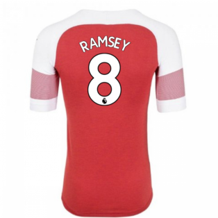 2018-2019 Arsenal Puma Home Football Shirt (Ramsey 8) - Kids