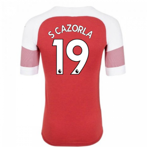 2018-2019 Arsenal Puma Home Football Shirt (S Cazorla 19) - Kids