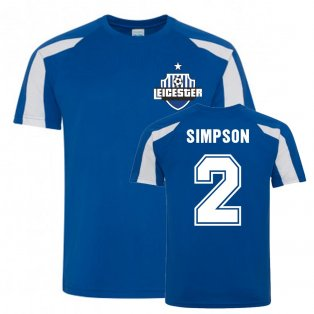 Danny Simpson Leicester City Sports Training Jersey (Blue)