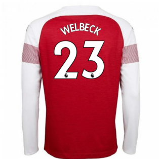 2018-2019 Arsenal Puma Home Long Sleeve Shirt (Welbeck 23) - Kids