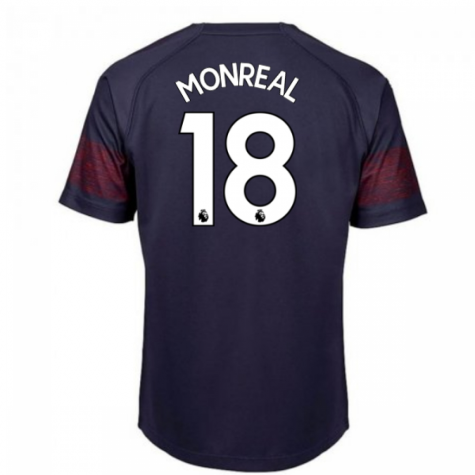 2018-2019 Arsenal Puma Away Football Shirt (Monreal 18) - Kids