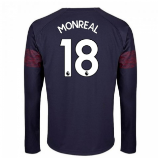 2018-2019 Arsenal Puma Away Long Sleeve Shirt (Monreal 18) - Kids