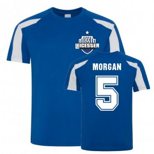 Wes Morgan Leicester City Sports Training Jersey (Blue)