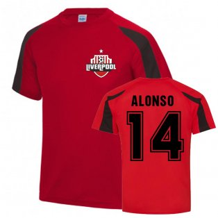 Xavi Alonso Liverpool Sports Training Jersey (Red)