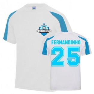 Fernandinho Man City Sports Training Jersey (White)