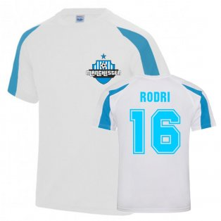 Rodri Man City Sports Training Jersey (White)