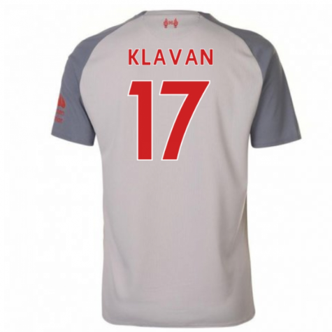 2018-2019 Liverpool Third Football Shirt (Klavan 17) - Kids