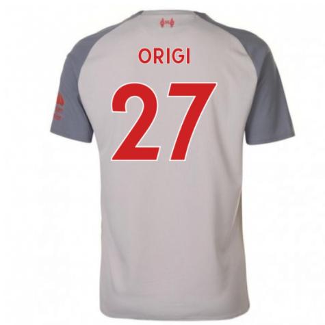 2018-2019 Liverpool Third Football Shirt (Origi 27) - Kids