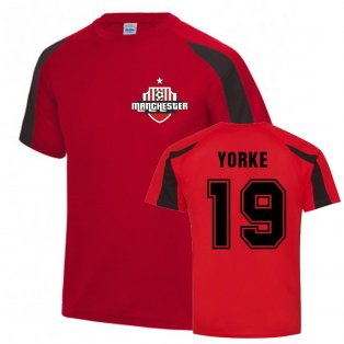 Dwight Yorke Man Utd Sports Training Jersey (Red)