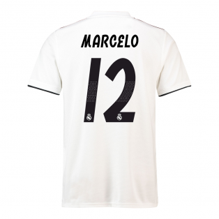 2018-19 Real Madrid Home Football Shirt (Marcelo 12) - Kids