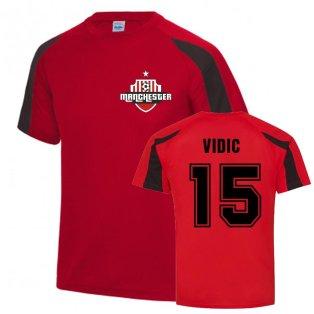 Nemanja Vidic Man Utd Sports Training Jersey (Red)