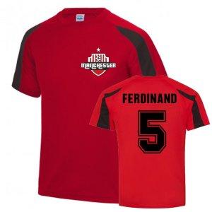 Rio Ferdinand Man Utd Sports Training Jersey (Red)