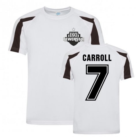 Andy Carroll Newcastle Sports Training Jersey (White)
