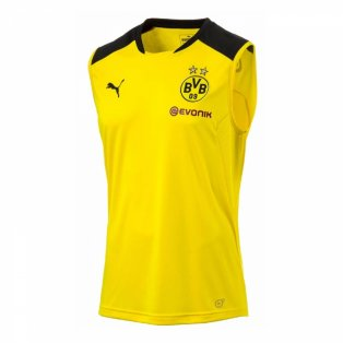 2017-2018 Borussia Dortmund Puma Sleeveless Shirt (Yellow) - Kids