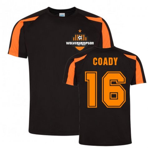 Conor Coady Wolves Sports Training Jersey (Black)